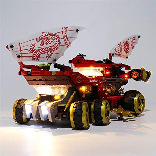 Teakpeak Licht-Set, Klassische Led Beleuchtungsset für Lego, Kompatibel Mit Lego Ninjago 70677 Wüstensegler Bauset Modell, Kein Lego Kit