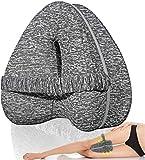 Almohadas posicionadoras de Pierna– Mejor para Pierna, Espalda, y Rodilla Pain- cuña de Espuma con Efecto Memoria Contour Pierna Almohada con Funda extraíble (Gris)