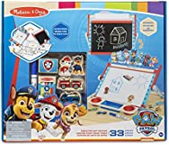 Melissa & Doug PAW Patrol Wooden Double-Sided Tabletop Art Center Easel (33 Pieces)