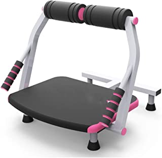 ZOUJUN Equipo Total Body Core Entrenamiento máquina de Fitness, Fitness AB AB Crunch Trainer for Gym Home Office Rueda Abdominal Roll Machine (Rojo)
