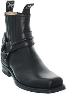 Sendra Low Boots en Cuir ref_sen35242-noir