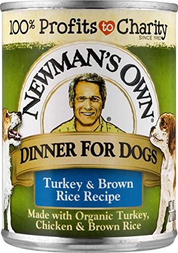 Newmans Own Turkey & Brown Rice Formula For Dogs, 12.7-Ounce Cans (Pack Of 12)