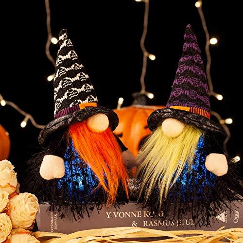 GMOEGEFT Halloween Zwerg Lichter, schwedische Tomte Zwerg Urlaub Tischdekoration –...