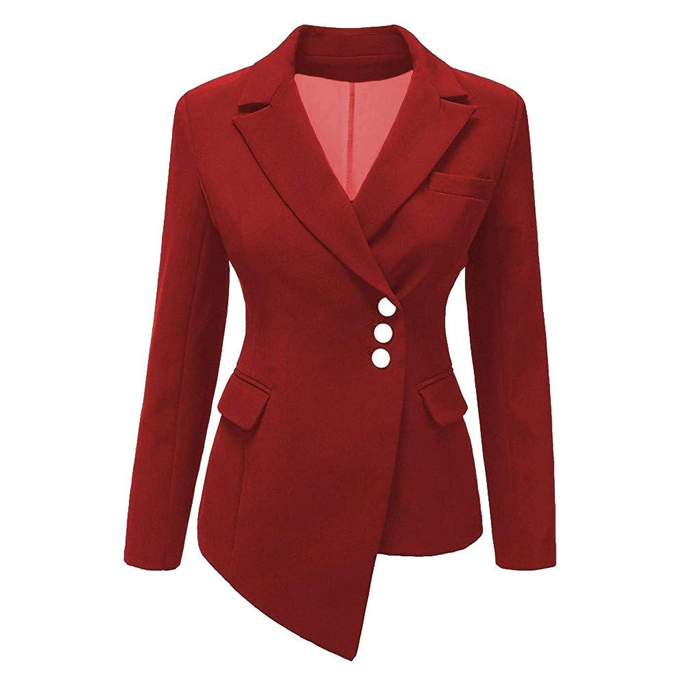 Usstore  Hot!Women Irregular Blazer Suit Fashion Elegant Slim Lapel Formal Outwear Coat Tops Business Attire