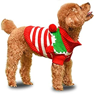 4 Pets Cute Pet Christmas Sweater Stripe Design Dog Clothes Puppy Sweater Fashion Clothing for Dogs & Cats by 4pets