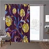 YUAZHOQI Panel de cortina de puerta corredera de bajo consumo energético, alcachofa, vegano de colores vibrantes, 100 x 96 pulgadas de ancho para puerta de patio (1 panel)