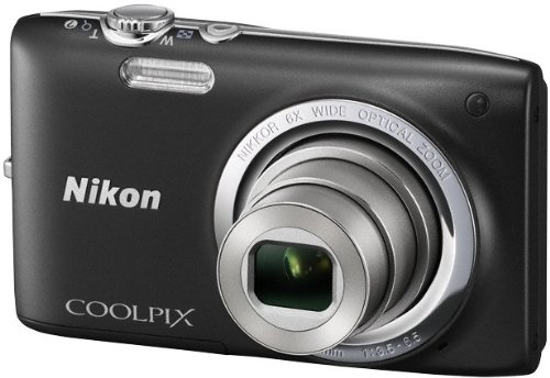 Nikon Coolpix S2700 Digitalkamera (16 Megapixel, 6-fach opt. Zoom, 6,7 cm (2,7 Zoll) TFT-Display) schwarz