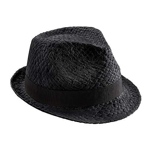 Beechfield - Chapeau tribly en paille - Adulte unisexe (L/XL) (Noir)