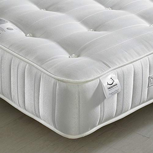 Orthopaedic Open Coil Spring, Happy Beds Super Ortho Medium Firm Tension Mattress with Reflex Foam (135 x 190 cm)