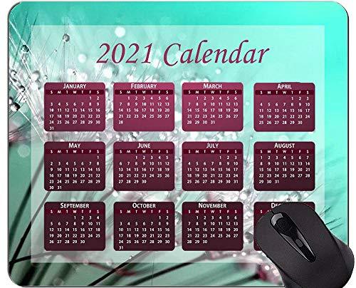 Alfombrilla de ratón con Calendario 2021 con Vacaciones, Alfombrillas de ratón con Semillas de Diente de león