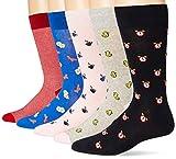 Amazon Brand - Goodthreads Men's 5-Pack Patterned Socks, Good Morning Pack, One Size