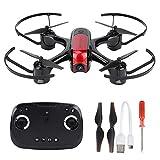 Q-HL Mini Drone Quadcopter Helicóptero Drone Plegable XBM-62 con Cámara HD 720P WiFi FPV Drone Control Remoto Quadcopter Set para Adultos Niños - Rojo