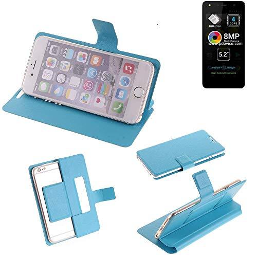 K-S-Trade Flipcover für Allview A9 Lite Schutz Hülle Schutzhülle Flip Cover Handy case Smartphone Handyhülle blau
