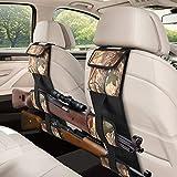EZshoot 2PCS Car Seat Back Gun Racks, Automotive Car Gun Holder Rack for Rifle/Shotgun, Tactical Hunting Backseat Sling Rack, Foldable Car Concealed Backseat Gun Sling Organizer for Car Truck SUV