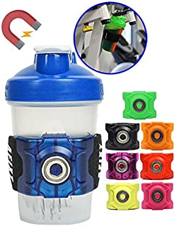 AFIXT Magnetic Water Bottle Holder with Adjustable Elastic Sleeve to Fit Many Shapes and Sizes