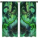 SSKJTC Illidan World of Warcraft - Cortinas aisladas térmicas sólidas para habitación infantil (140 x 115 cm)