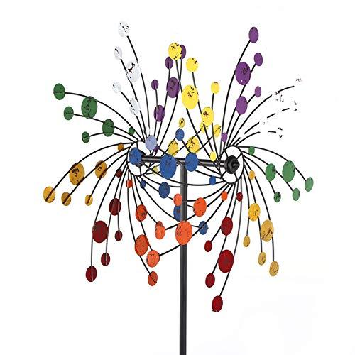 Cocoarm Windrad Garten Windblume Metall Windrad Bunte Garten Windmühle Eisen Wind Spinner Windspiel Windmühle für den Garten Rasen Innenhof Dekoration