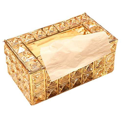 SBSNH Rettangolare Tissue Box Hotel Restaurant, Scatola for Asciugamani di Carta for Alberghi di Famiglia o uffici (Colore: Oro)