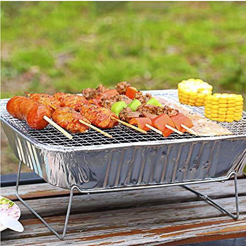 51hhU8QGD3L - TYZY Einweg-Grill Feld tragbarer Kohle Mini Kohlegrill Hohe thermische Effizienz Barbecue Ofen für Außenhandelshauptständer