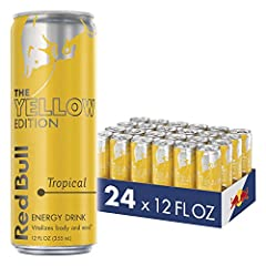 Red bull the yellow edition red bull energy drink, with the taste of tropical Red Bull Energy Drinks formula contains high quality ingredients: Caffeine, Taurine, B group Vitamins, Sugars, Alpine water Case of twenty four (24 pack) 12 fluid ounce Red...