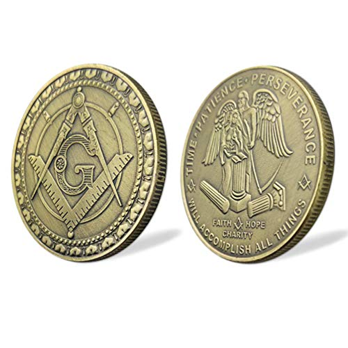 Masonic Coin Freemasons Master Mason Blue Lodge Commemorative Challenge Coin