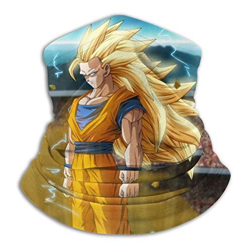Jiadourun Dragon Ball Z Goku - Bufanda de microfibra para el cuello, suave, unisex,...