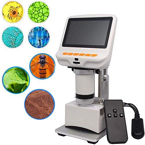 April Story Pantalla Electrónica Lupa de Video AD105S USB Digital Microscopio 4.3 Pulgadas Incorporadas Mostrar Diapositivas Observación de Tejidos Células Botánicas