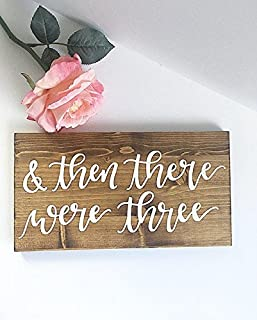onepicebest Honey Wood Sign Pregnancy Sign Pregnancy Announcement Sign Photo Prop Sign Baby Sign Baby anouncement Sign and Then There were Three Sign