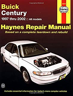 1998 buick century owners manual