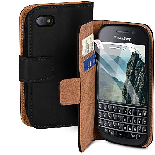 MoEx® Premium 360 Grad Schutz Set passend für BlackBerry Q10   Solider Handy Komplett-Schutz [Hülle + Folie] Beidseitige Abdeckung mit Handytasche & Schutzfolie, Schwarz