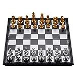 Juego de ajedrez de ajedrez de ajedrez juego de ajedrez magnético portátil Classic plegable Junta de ajedrez juego Junta de ajedrez para adultos y niños Creative Games Tradicionales Regalos de ajedrez