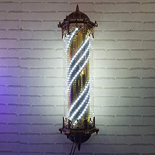 N / A KauiP Barberpole Inscrivez-Vous pour la lumière Barber Shop, Salon de Coiffure Vintage Salon LED De Barbier Poteau Signe Poteau lumière Mur Rouge Blanc Bleu Bande de 90cm / 35in, B,B