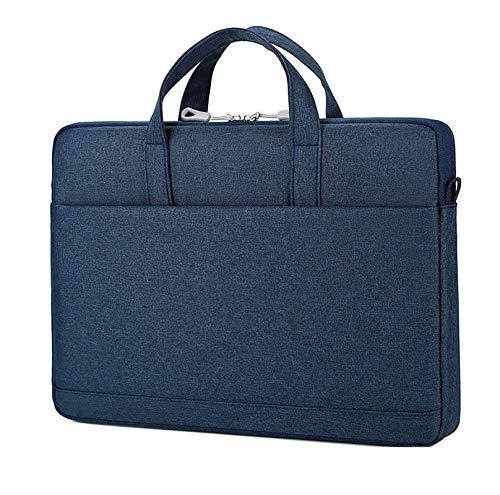 """Cicilin Bolsa para laptop de 13, 14 ou 15,6 polegadas, bolsa tipo carteiro com alça de ombro, Macio, Azul, 15.6"""""""