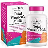 Pink Stork Total Women's Multi: Multivitamin for Women with Folate, Zinc, Vitamin A, Vitamin C, Vitamin D, Vitamin E, Biotin, Women's Multivitamin, Women-Owned, 30 Capsules