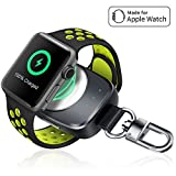 Wireless iPhone Watch Charger [ MFi Certified], Portable iwatch Charger 700mAh Smart Keychain P…