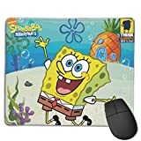 Spongebob Mouse Pads Pack with Non-Slip Rubber Base, Premium-Textured and Waterproof Mousepads Bulk with Stitched Edges, Mouse Pad for Computers, Laptop, Office & Home, 18x22inches, 3mm