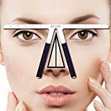 Three-Point Positioning Ruler Permanent Makeup Tattoo Eyebrow Measure...