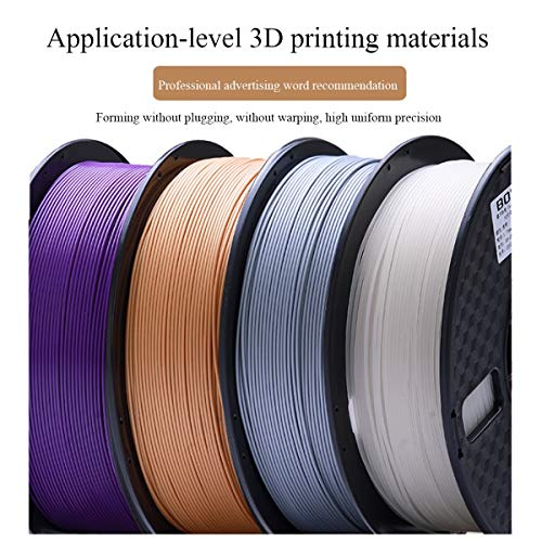 QDTD PLA 3D Imprimante Filament 1.75mm, Imprimante 3D Filament 1kg +/- 0,02 Mm, Les Matériaux d'impression 3D for Imprimante 3D Et 3D Pen