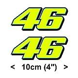 Rossi Autoadesivo Fluorescente Giallo 46 Decalcomania del Vinile (2013 10cm)