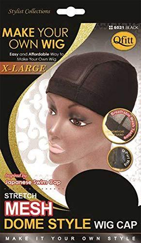 Qfitt Bonnet Filet Epais Pour Perruque Tissages Taille XL, Mesh Dome Cap XL