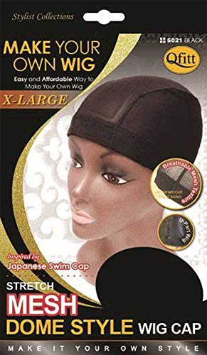Qfitt Bonnet Filet Epais Pour Perruque Tissages Taille XL, Mesh Dome Cap XL