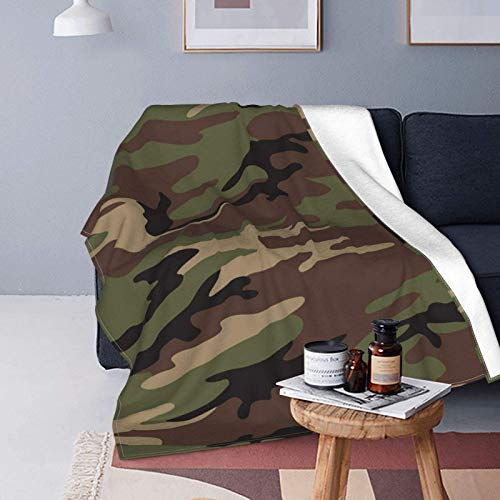 Army Camouflage Camo Fleece Blanket Ultra-Soft Micro for Couch Or Bed Warm Throw Blanket All Season Sofa Blanket