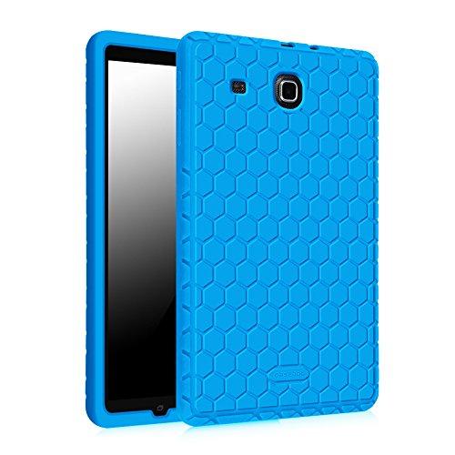 Fintie Hülle für Samsung Galaxy Tab E 9.6 - [Bienenstock Serie] Leichte rutschfeste Stoßfeste Silikon Schutzhülle Tasche Case für Samsung Galaxy Tab E T560N / T561N 24,3 cm (9,6 Zoll) Tablet-PC, Blau