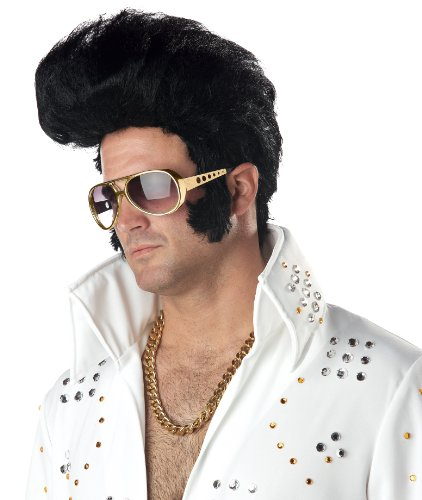 California Costumes Men's Rock N' Roll Wig,Black,One Size