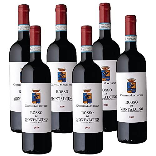 Vino Rosso di Montalcino DOC Castelli Martinozzi 6 bottiglie Toscana Sangiovese 100% Made in Italy