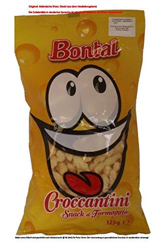 Bontal Croccantini Snack al Formaggio 8 x 125g = 1000g / Mais Snack mit Käse.