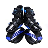 Joyfay Unisex Fitness Jump Shoes Bounce Shoes- Black and Red/Blue