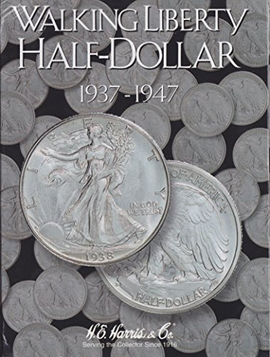 H.E. Harris Harris Coin Folder – Liberty Walking Half Dollars #2 1937-1947 #8HRS2694