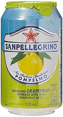 SanPellegrino Pompelmo 24x 330ml - kohlensäurehaltiges Erfrischungsgetränk mit Grapefruit