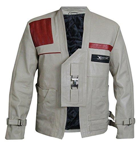 Star Wars Force Awakens Finn Pilot Giacca in pelle Beige M
